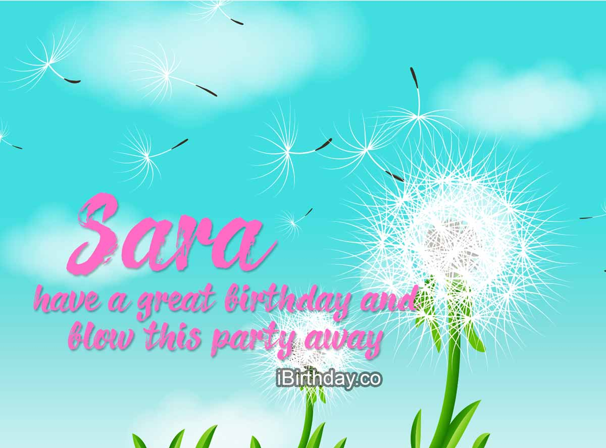 Sara Dandelion Birthday Wish
