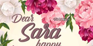 Sara Flowers Happy Birthday