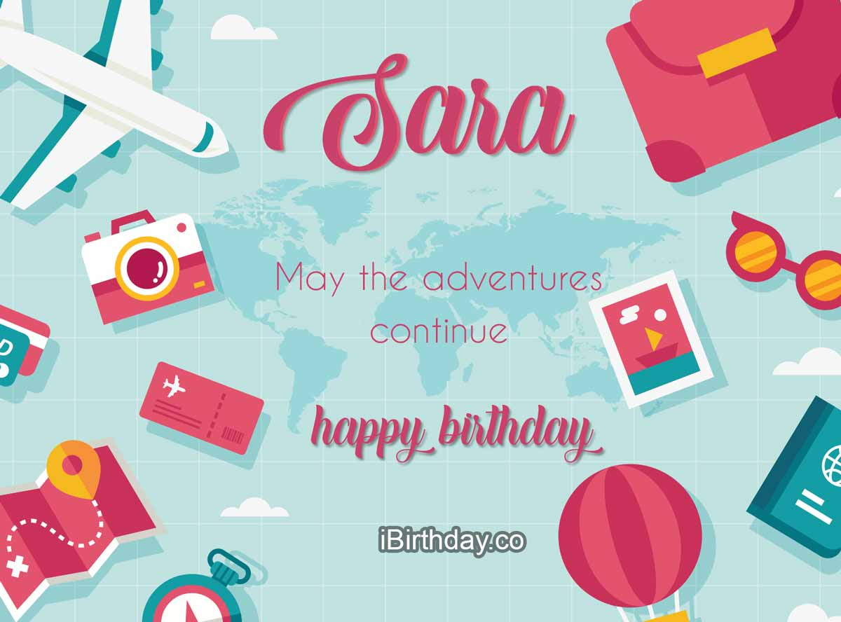 Sara Travel Birthday Wish