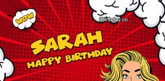 Sarah Comics Birthday Meme