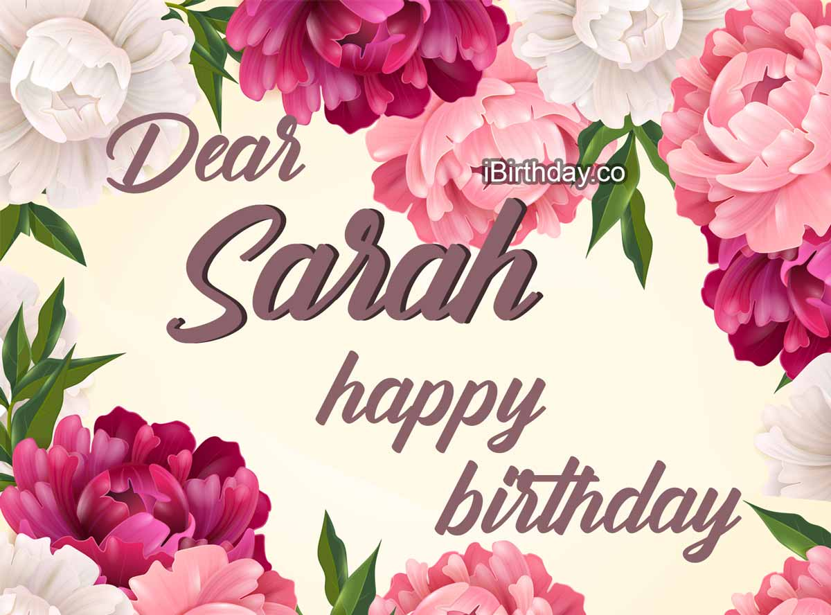 Sarah Flowers Birthday Wish