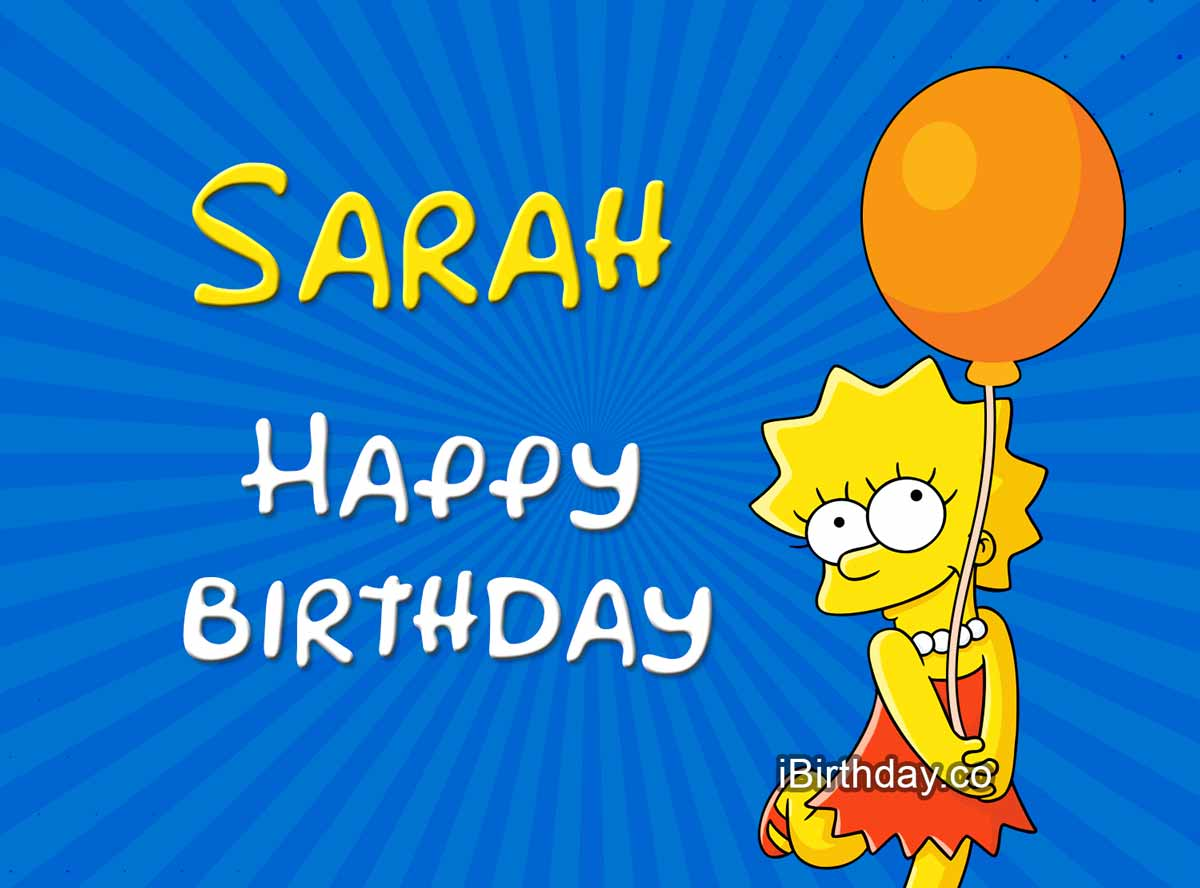 Sarah Lisa Simpson Birthday Meme