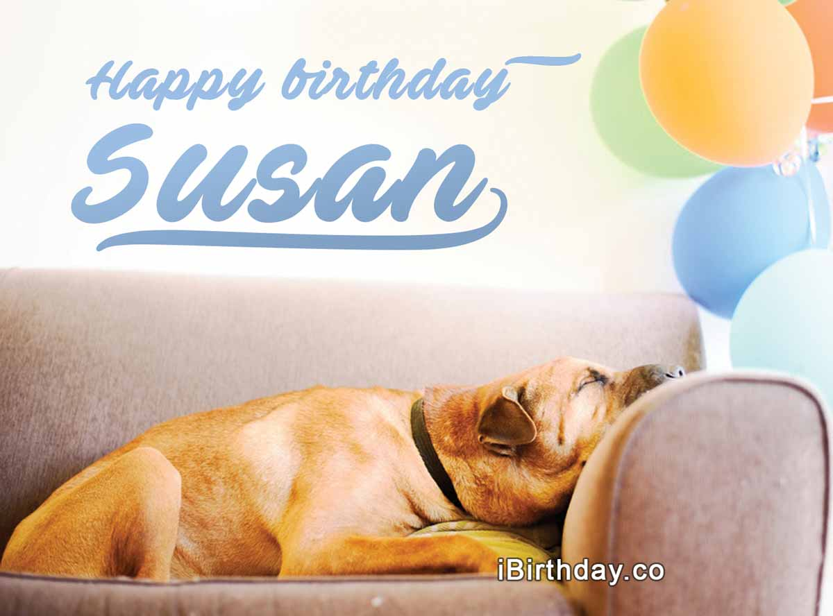 Susan Dog Birthday Wish