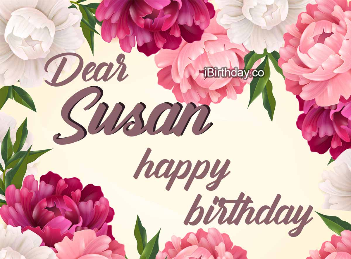 Susan Flowers Birthday Meme