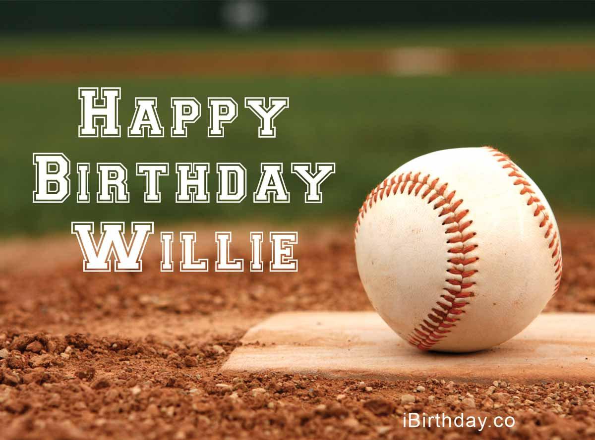 Willie Baseball Birthday Meme