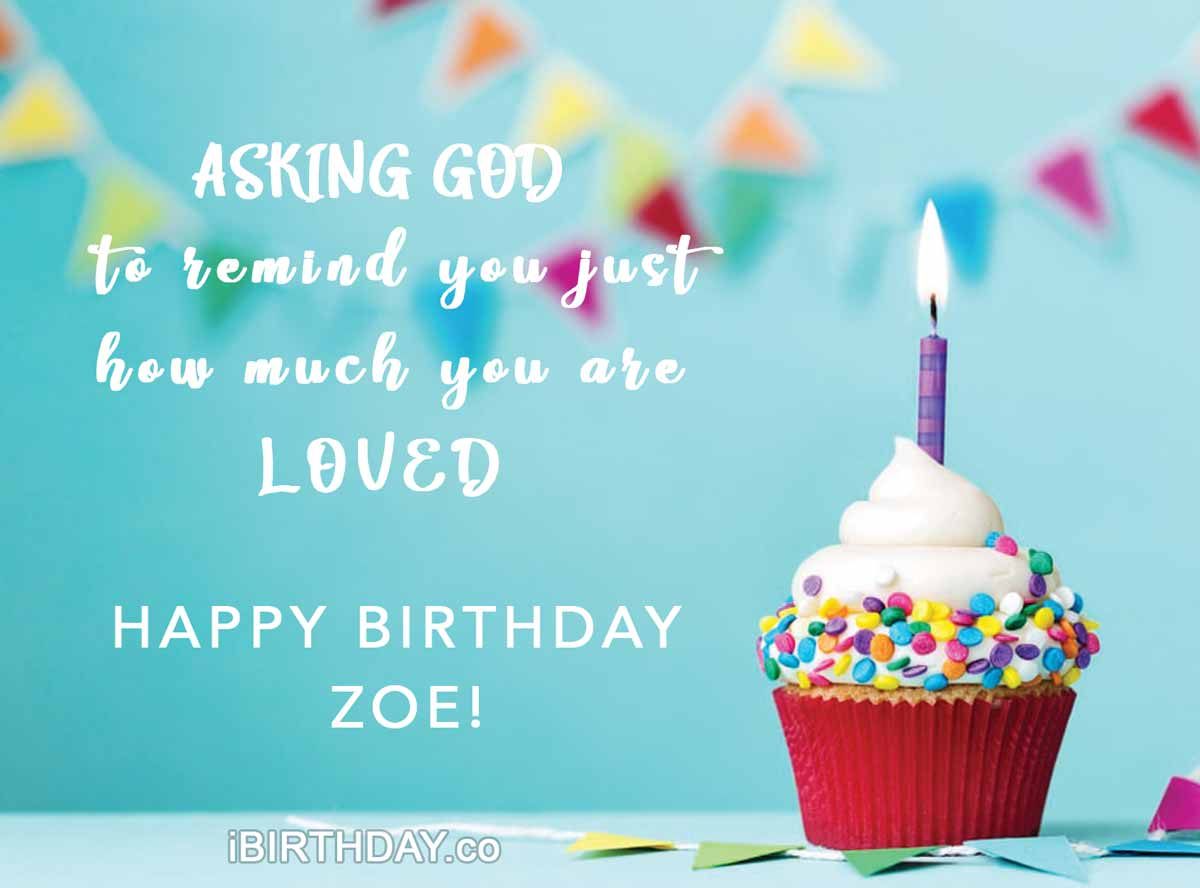 Zoe Happy Birthday