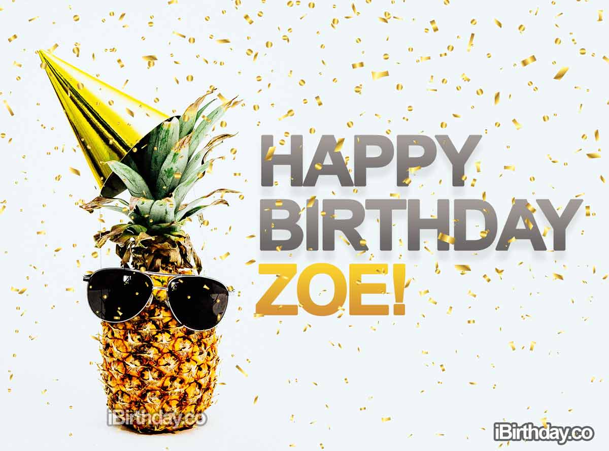 Zoe Pineapple Birthday Meme