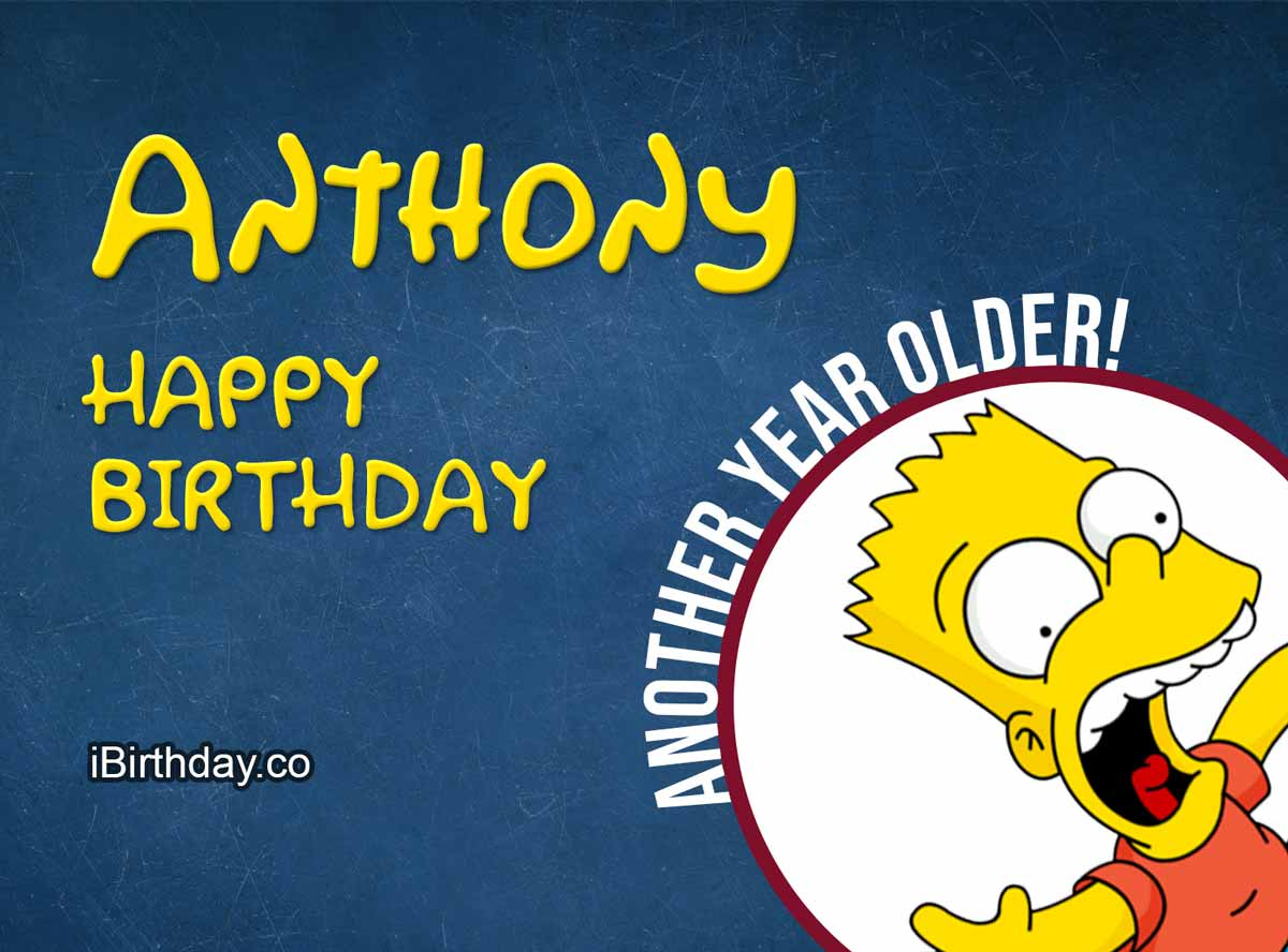 Anthony Bart Simpson Birthday Wish