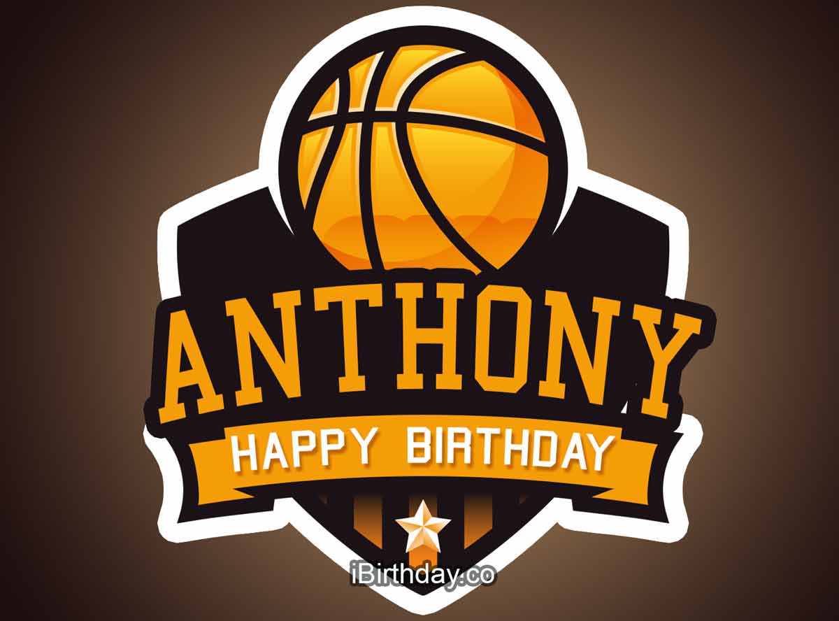 Anthony Basketball Birthday Meme