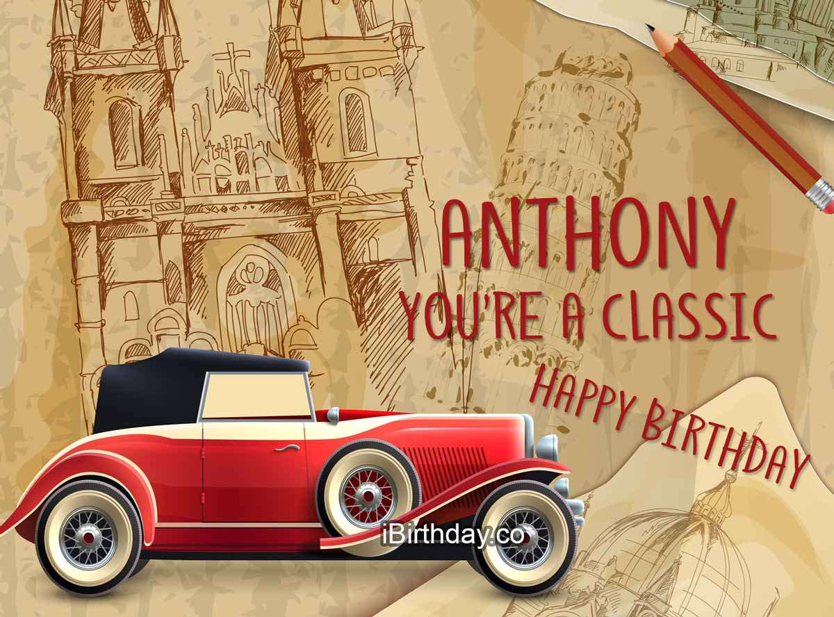Anthony Car Birthday Meme
