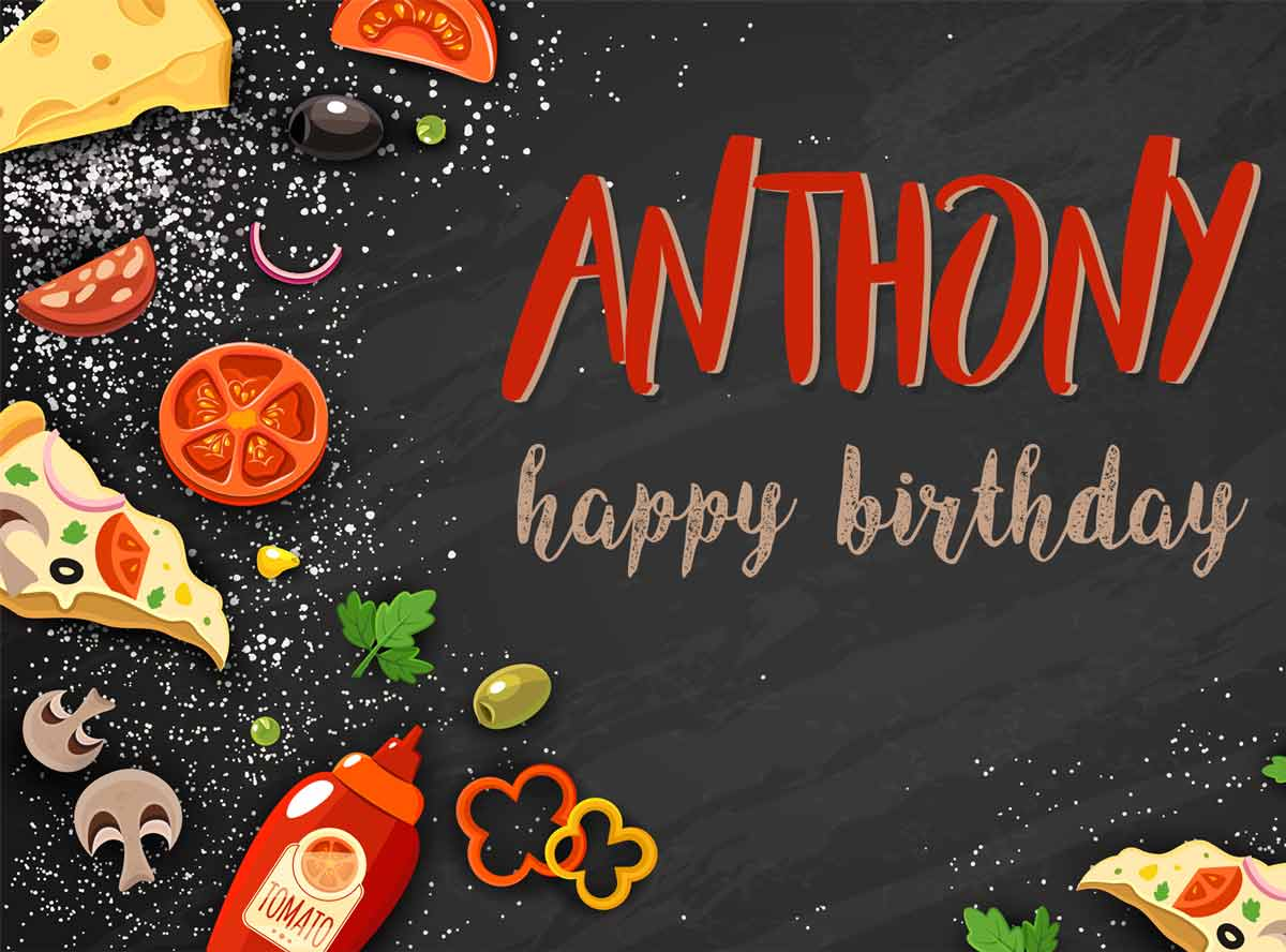 Anthony Food Birthday Meme