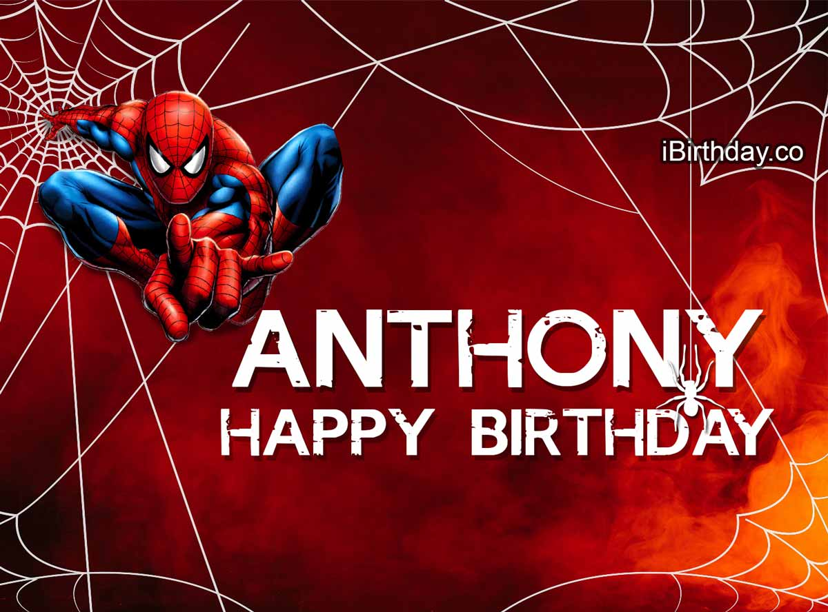 Anthony Spider-man Birthday Meme