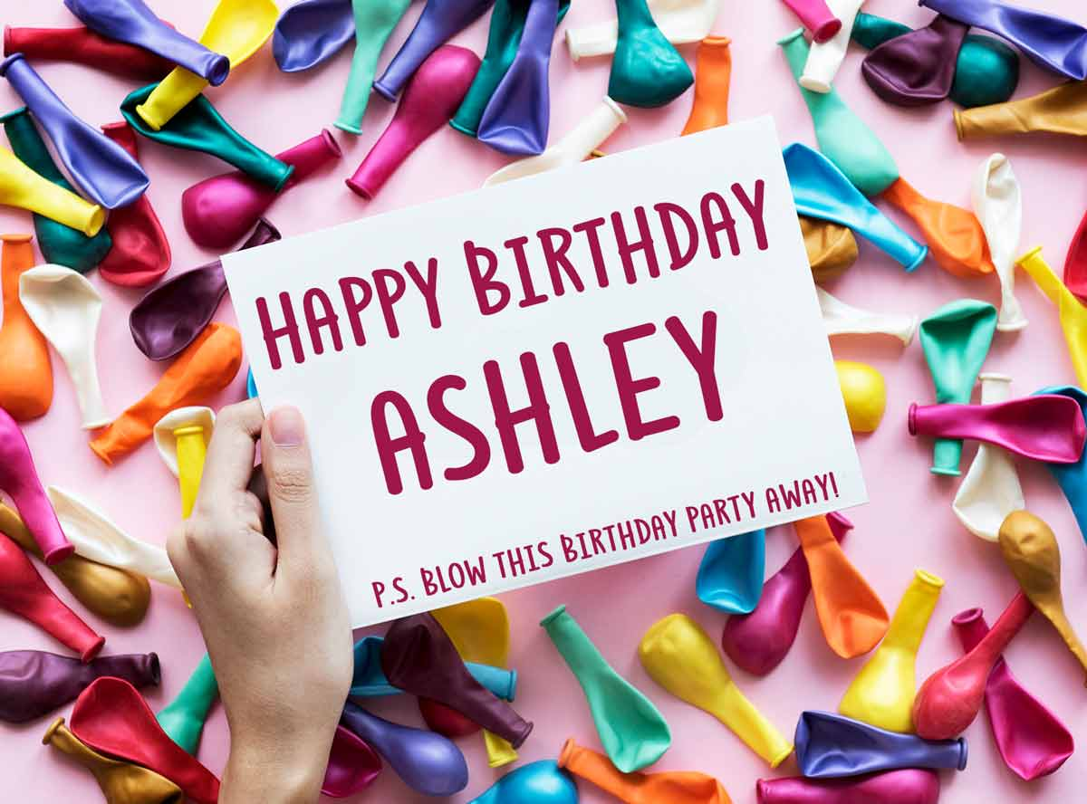 Ashley Balloons Birthday Meme