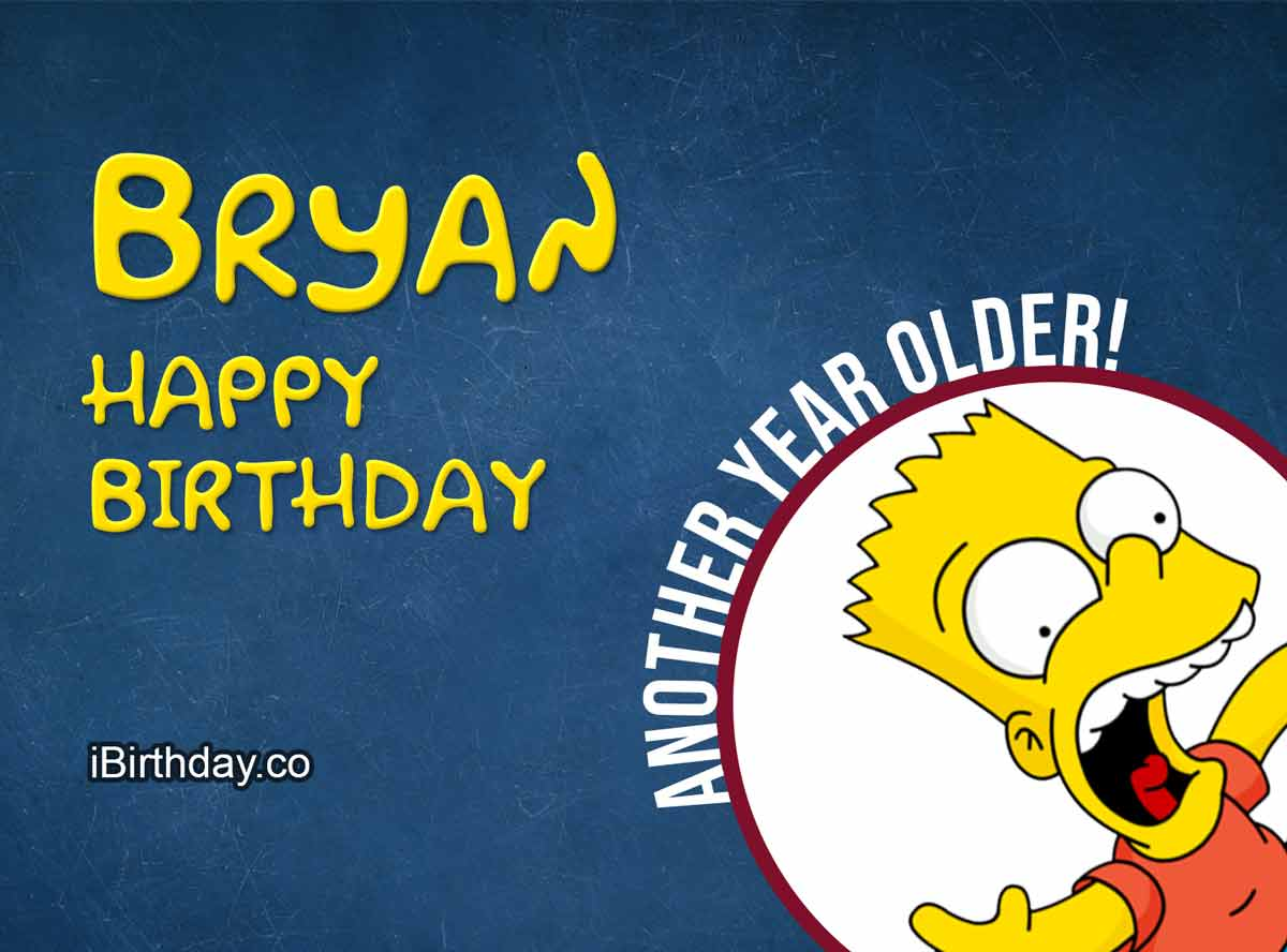 Bryan Bart Simpson Happy Birthday