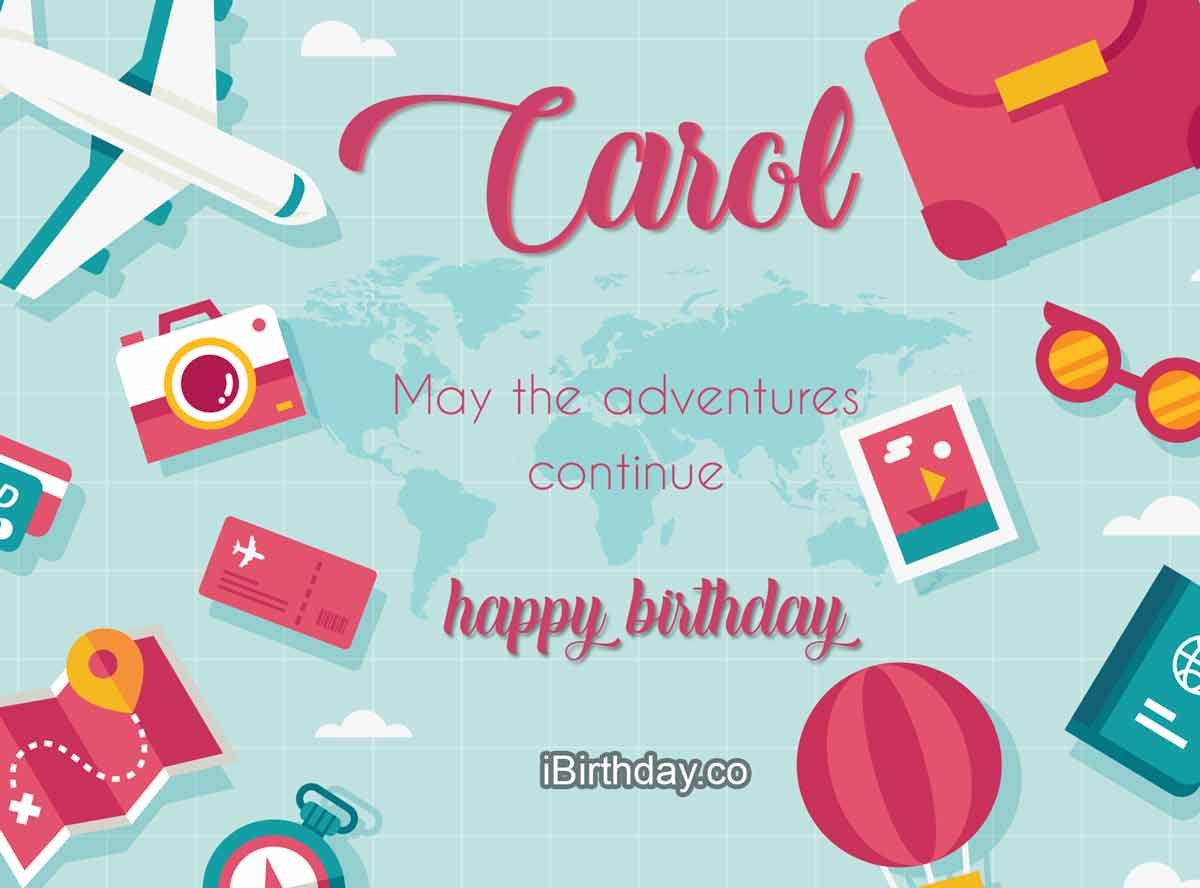 Carol Travel Birthday Meme