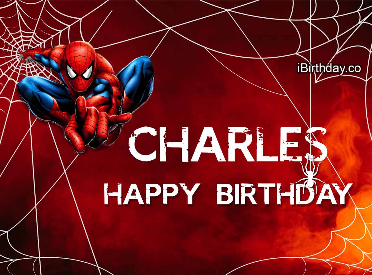 Charles Spider-Man Happy Birthday