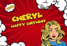 Cheryl Comics Birthday Meme