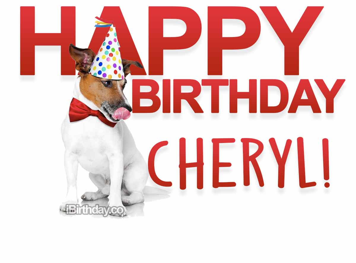 Cheryl Dog Happy Birthday