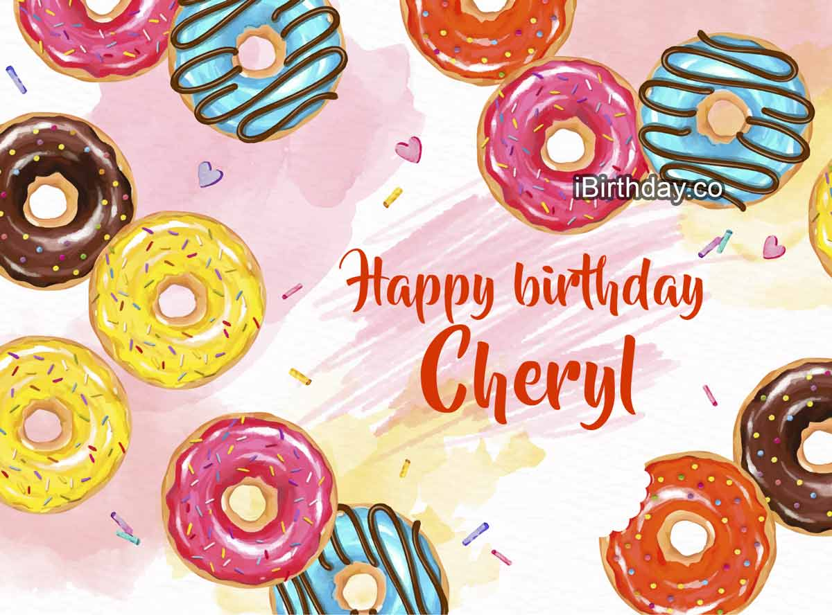 Cheryl Donuts Happy Birthday