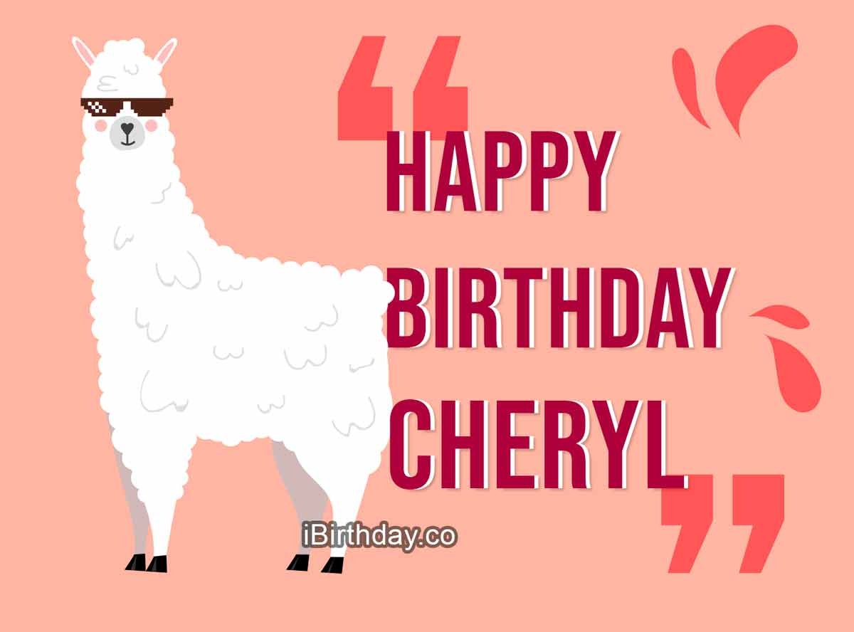Cheryl Lama Happy Birthday