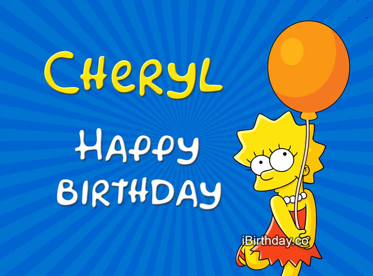 Cheryl Lisa Simpson Birthday Meme