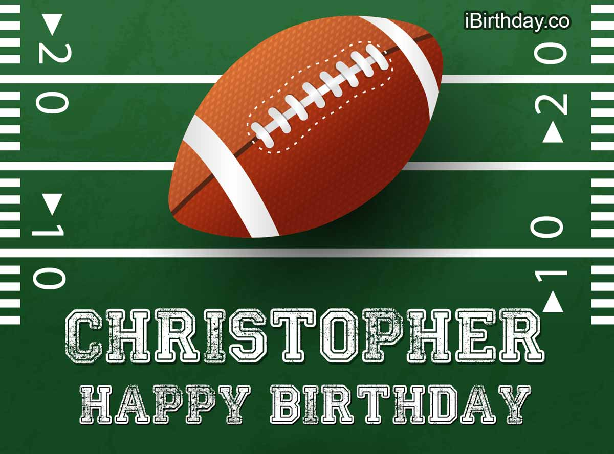 Christopher Rugby Happy Birthday