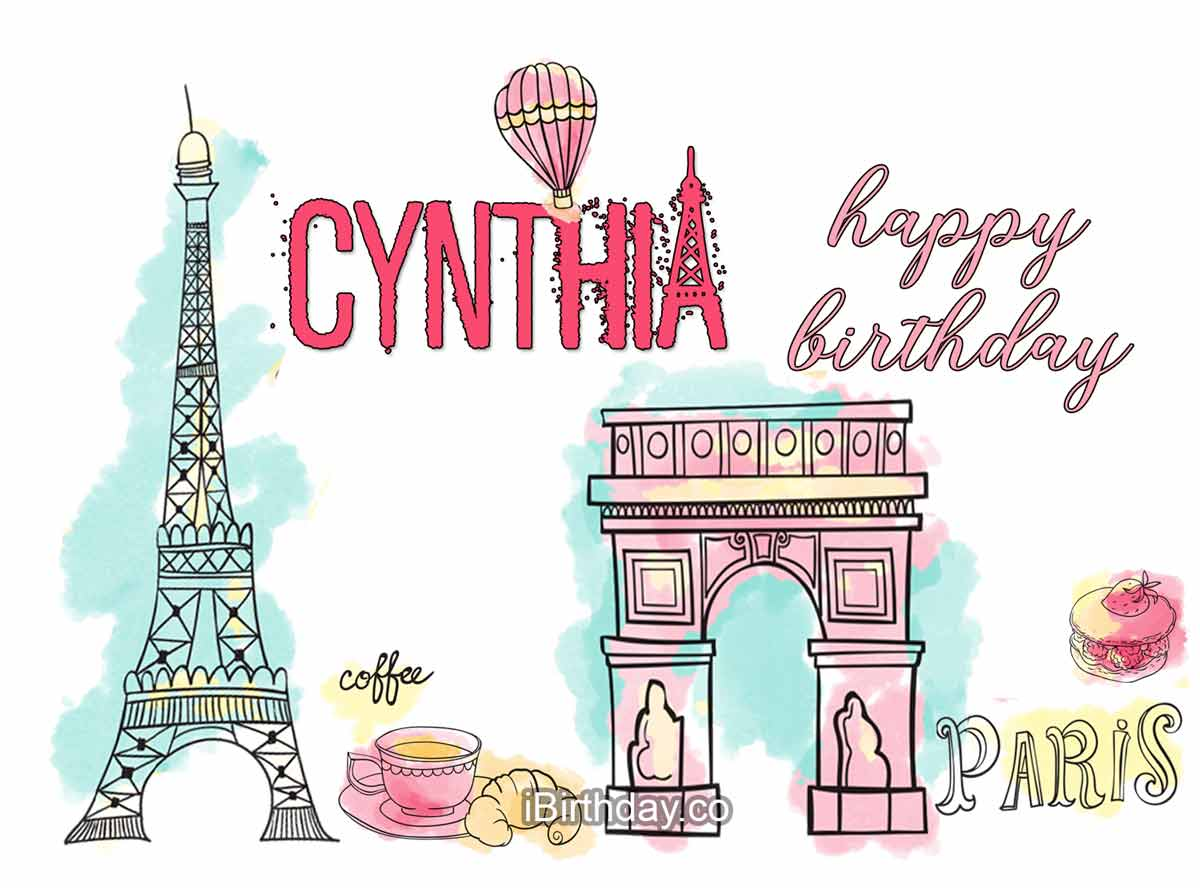Cynthia Paris Birthday Wish