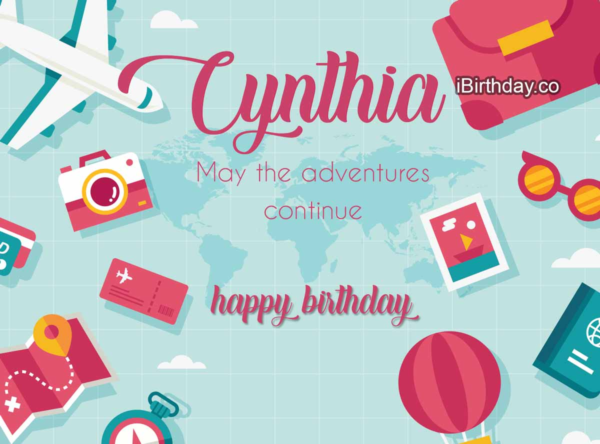 Cynthia Travel Birthday Meme