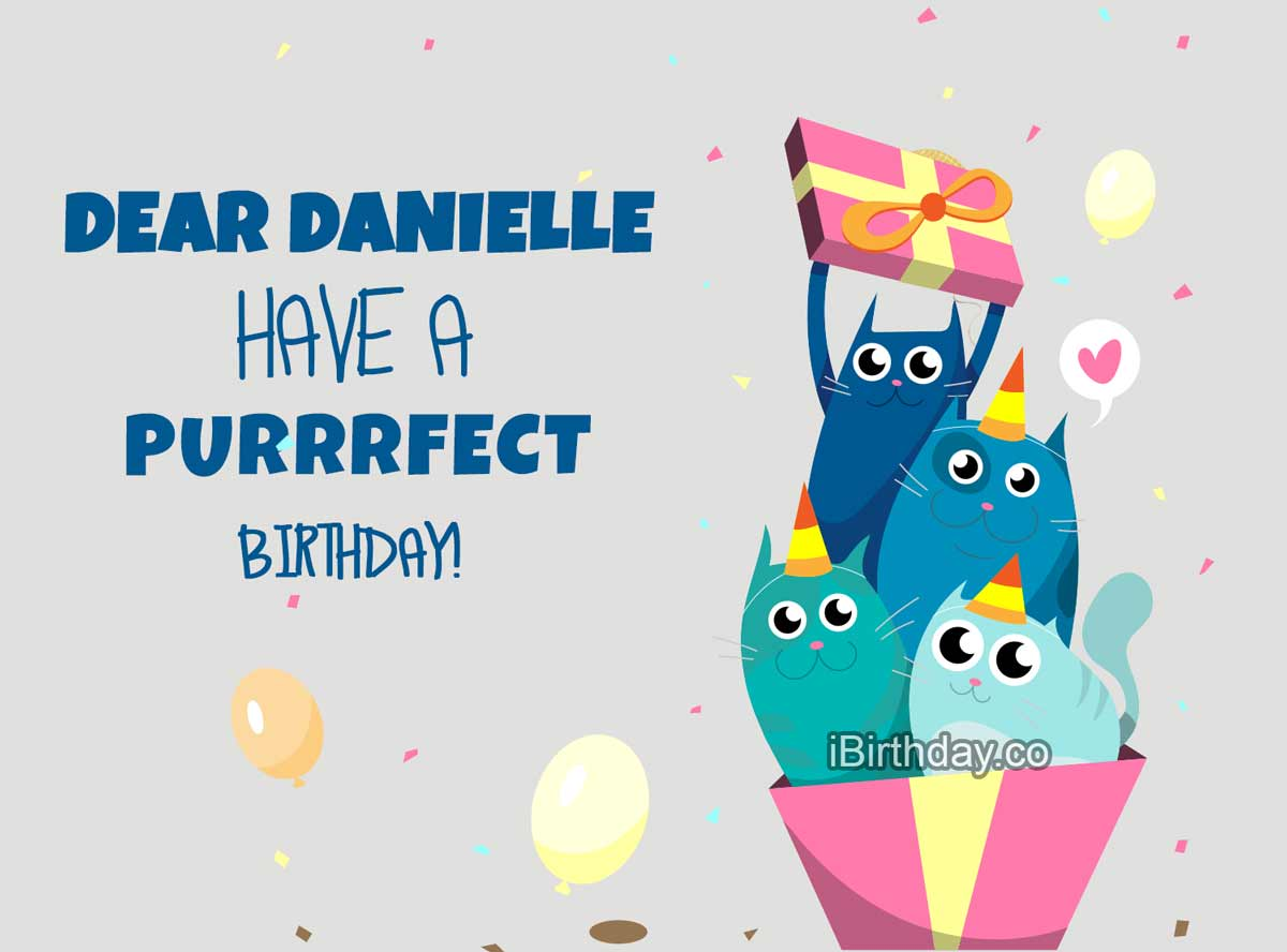 Danielle Cats Birthday Meme