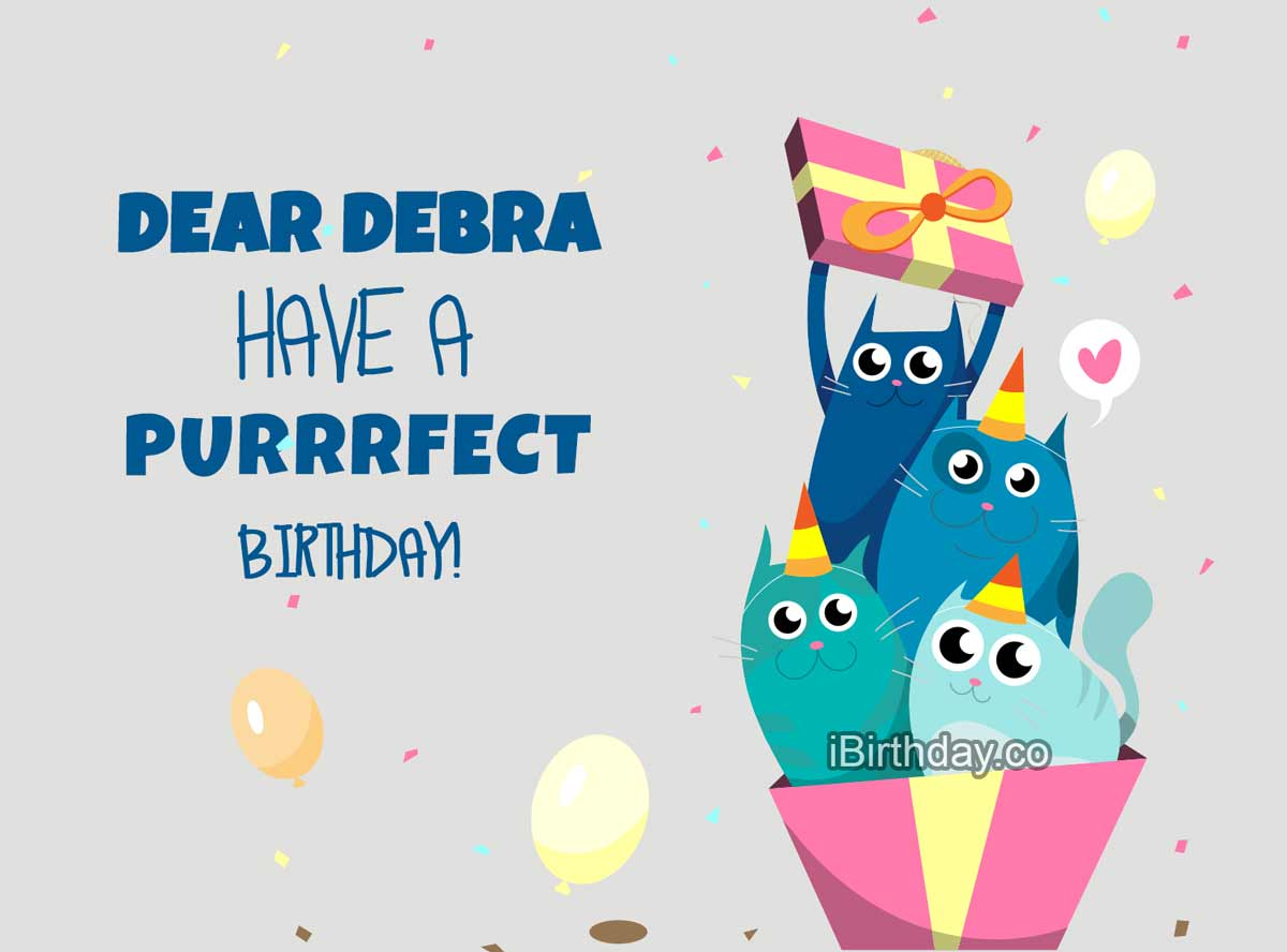 Debra Cats Birthday Meme