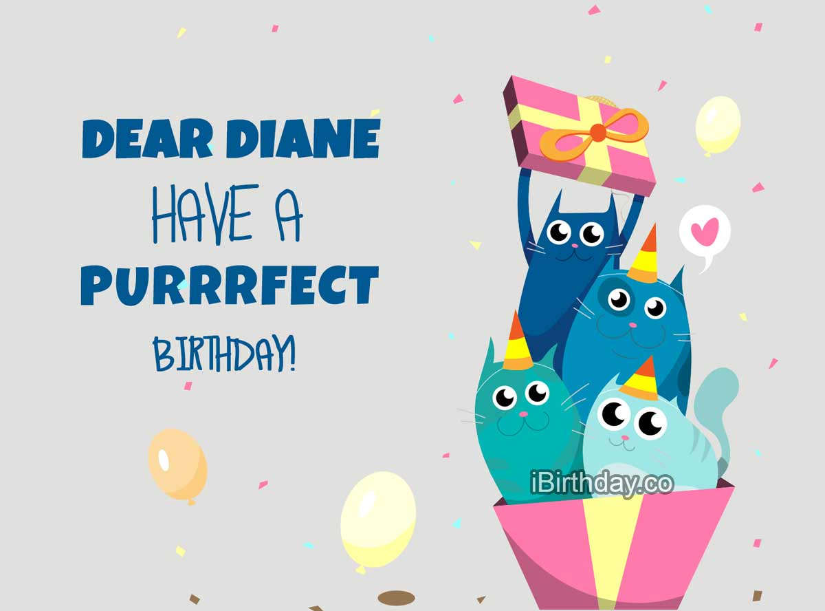 Diane Cats Birthday Meme
