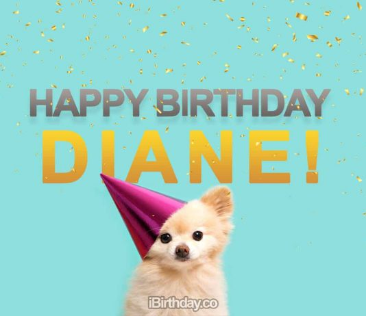 Diane Happy Birthday Dog