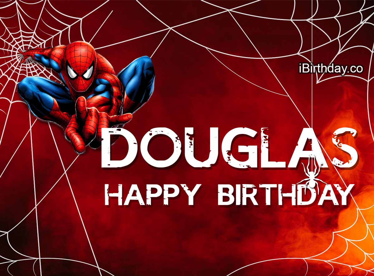 Douglas Spider-Man Birthday Meme