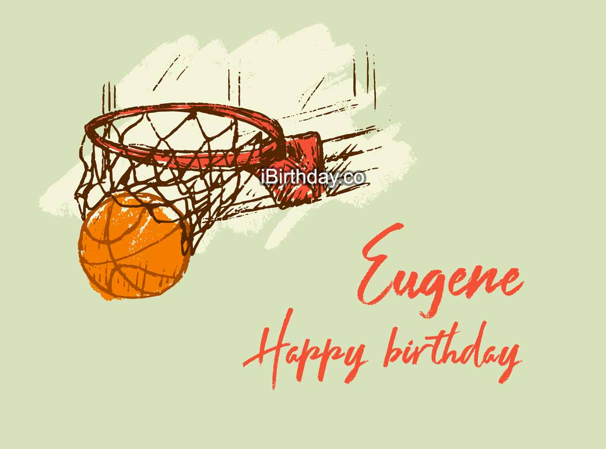 Eugene Basketball Happy Birthday
