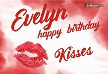 Evelyn Kiss Happy Birthday