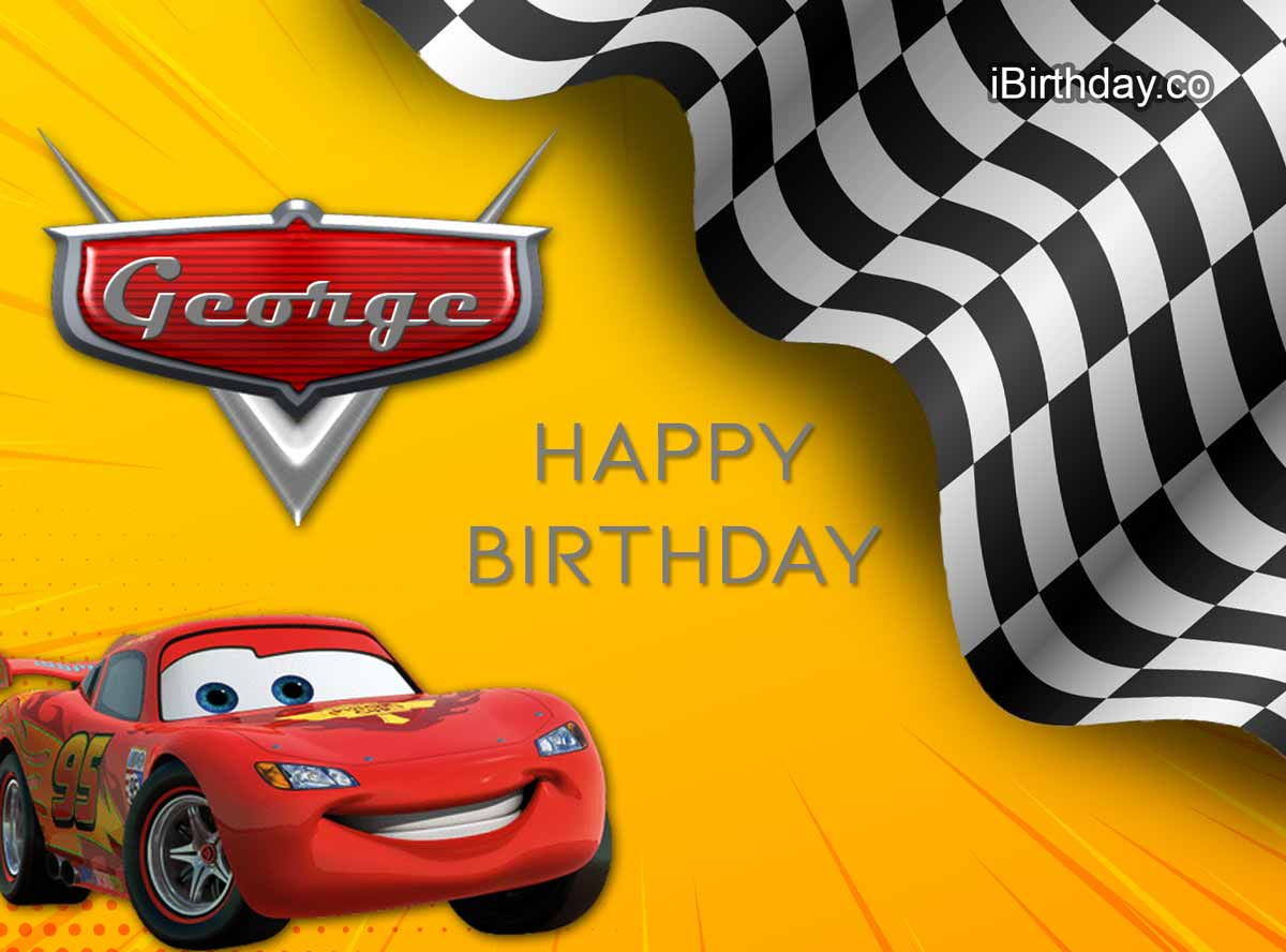 George Cars Happy Birthday