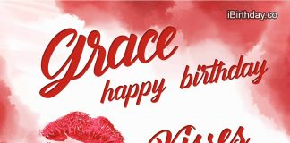 Grace Kisses Happy Birthday