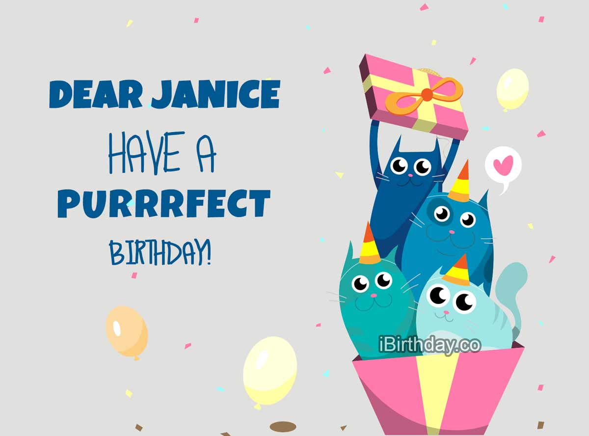 Janice Cats Happy Birthday