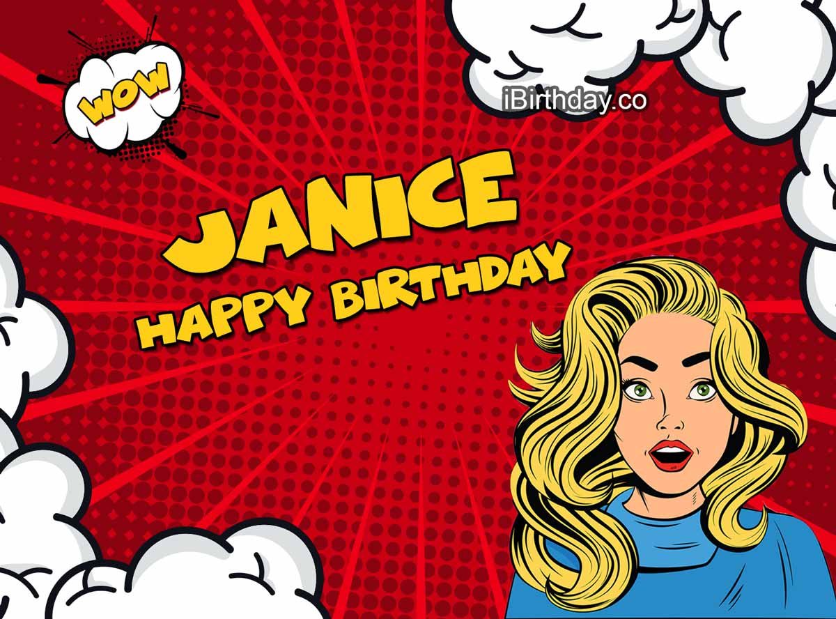 Janice Comic Girl Birthday Meme