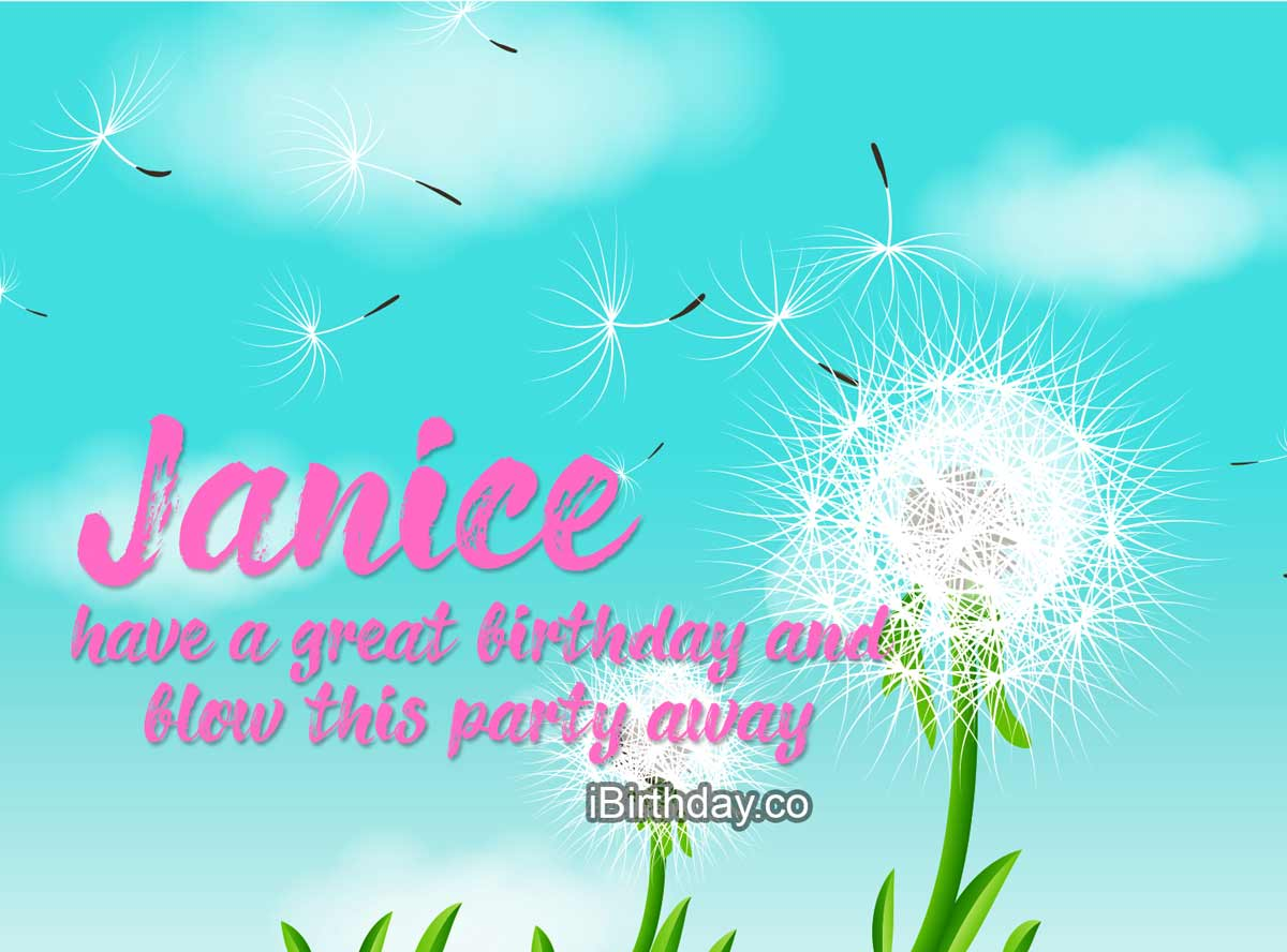 Janice Dandelion Birthday Wish