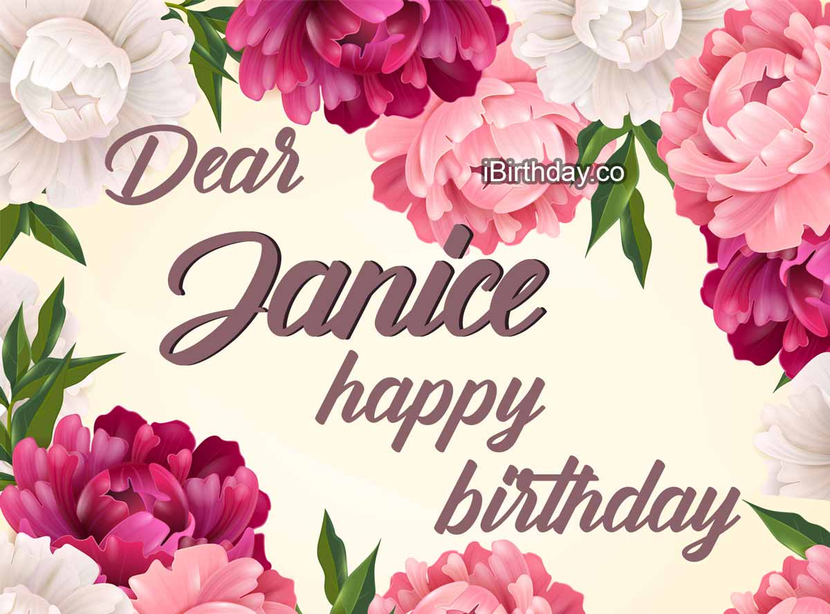 Janice Flowers Birthday Meme