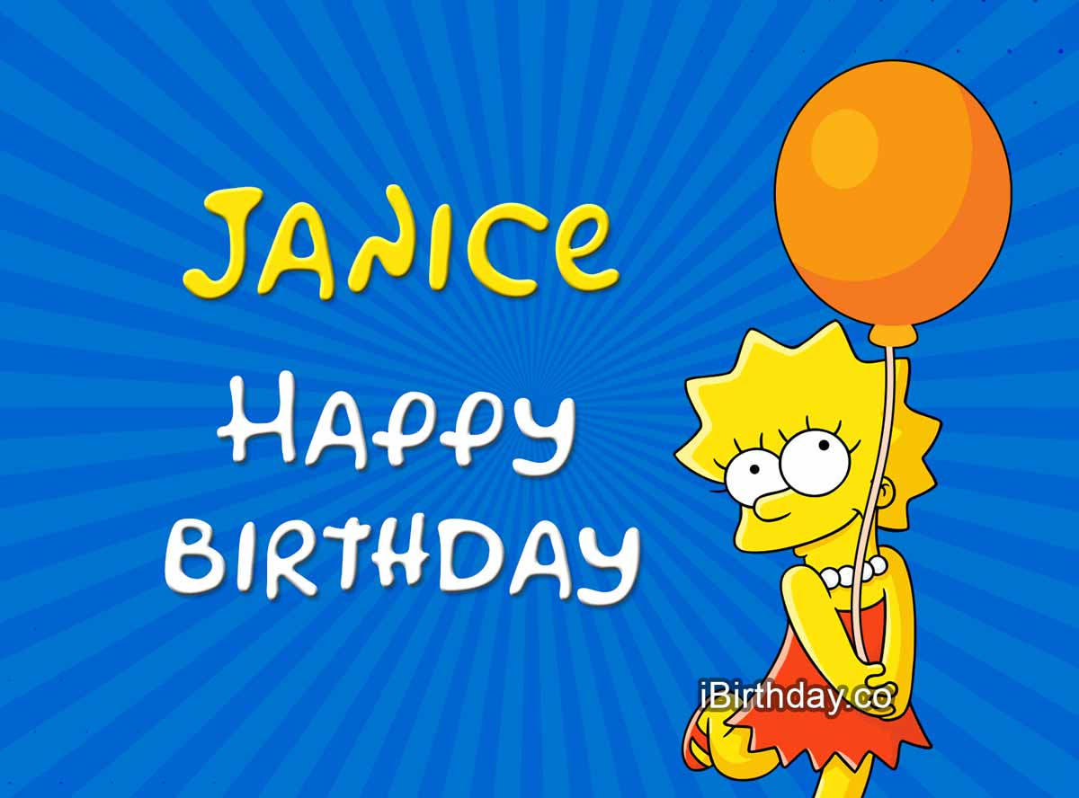 Janice Lisa Simpson Birthday Meme