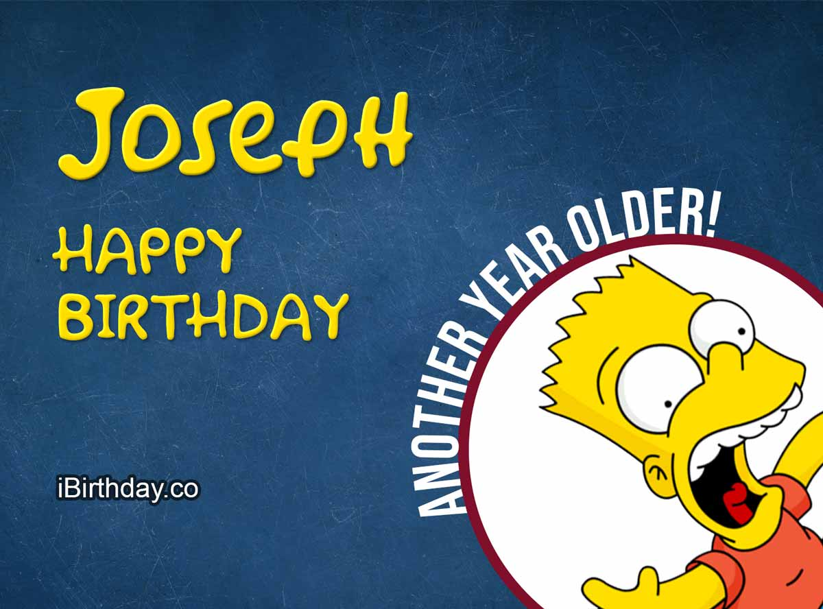 Joseph Bart Simpson Happy Birthday