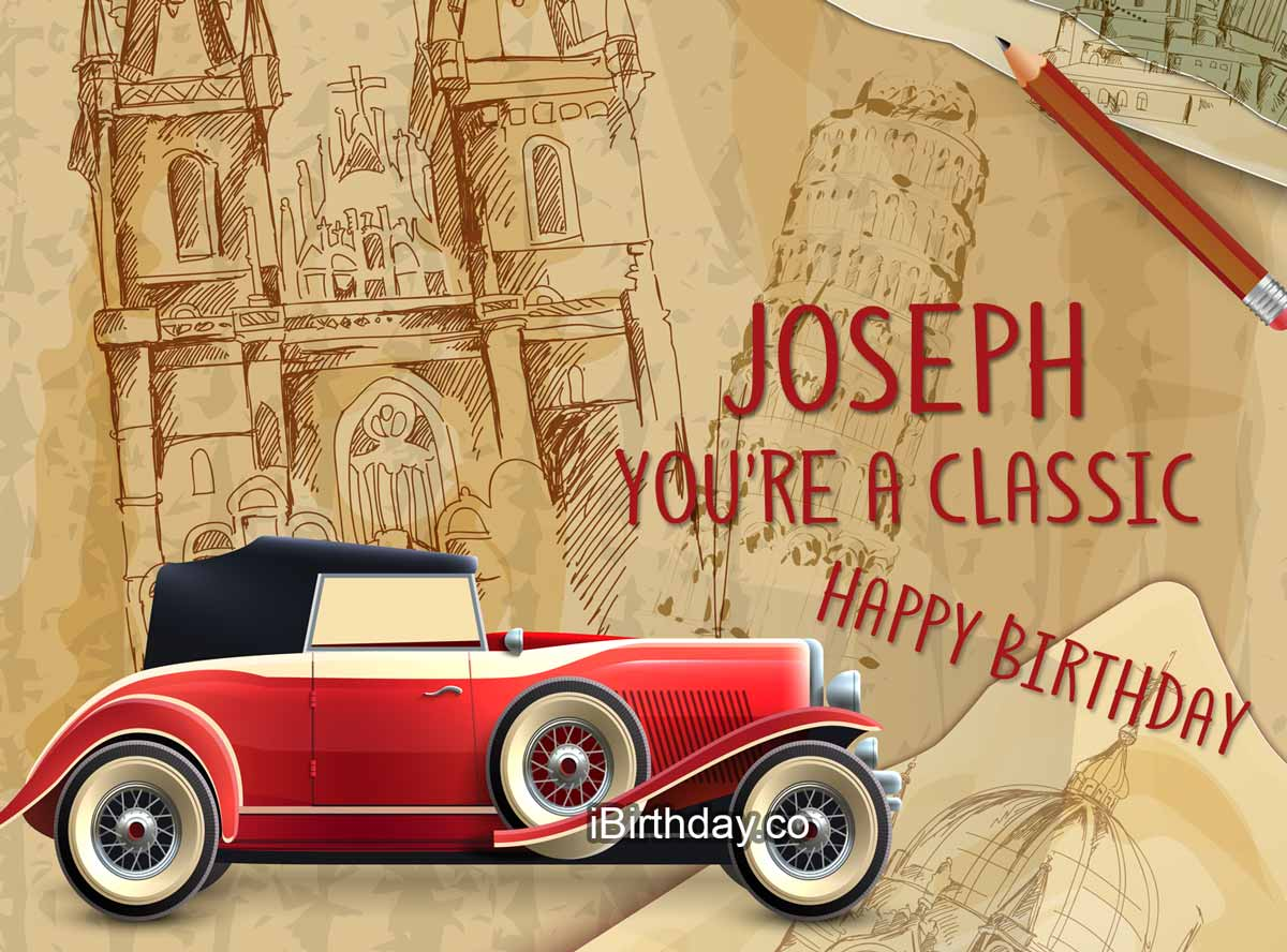 Joseph Car Happy Birthday