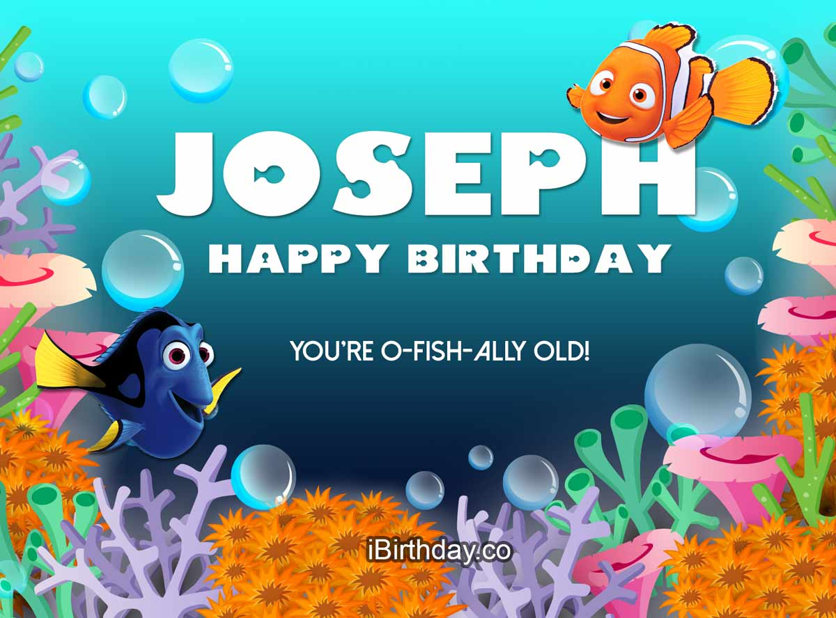 Joseph Nemo Birthday Wish