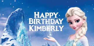 Kimberly Frozen Happy Birthday