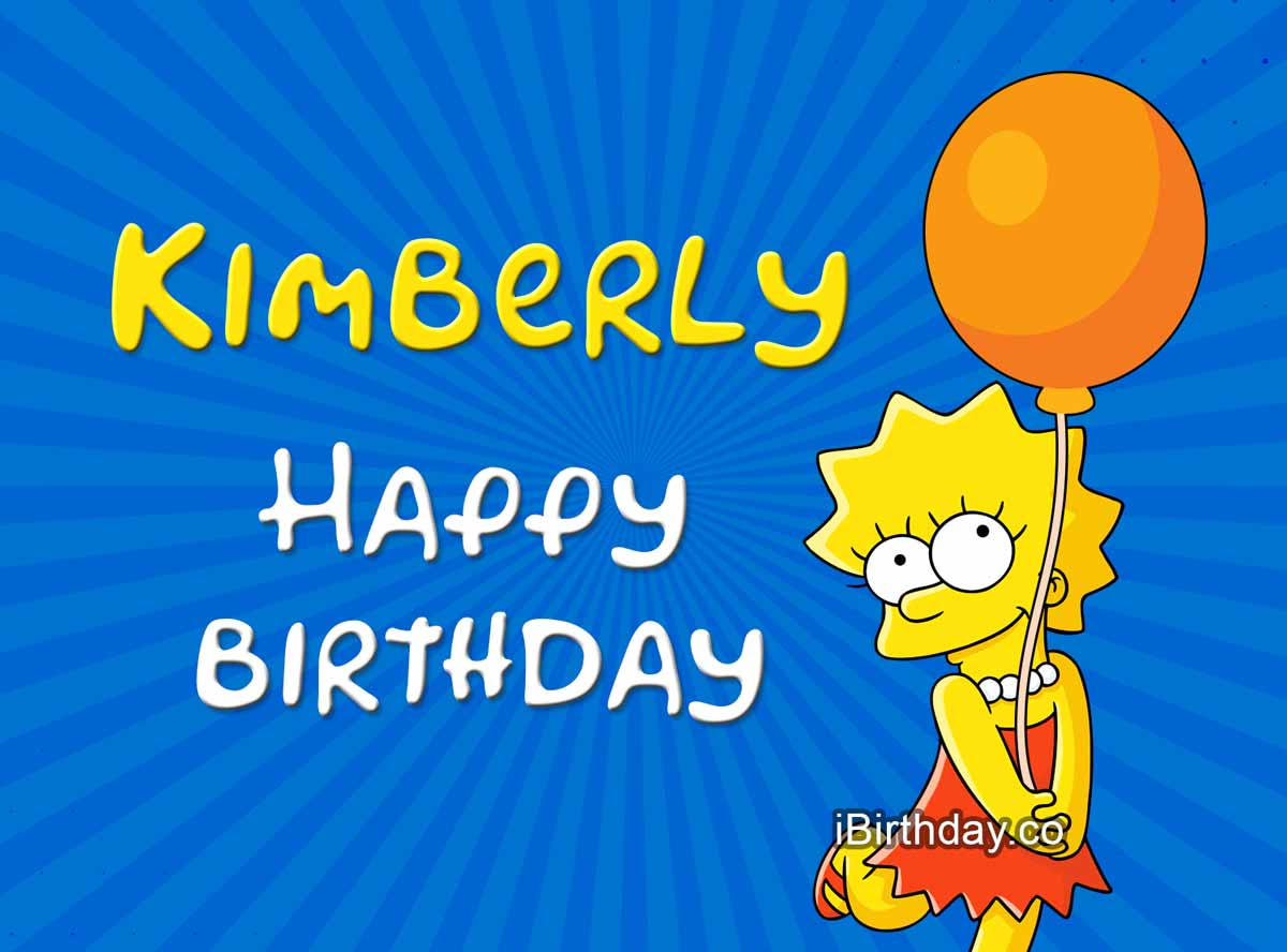 Kimberly Lisa Simpson Birthday Meme