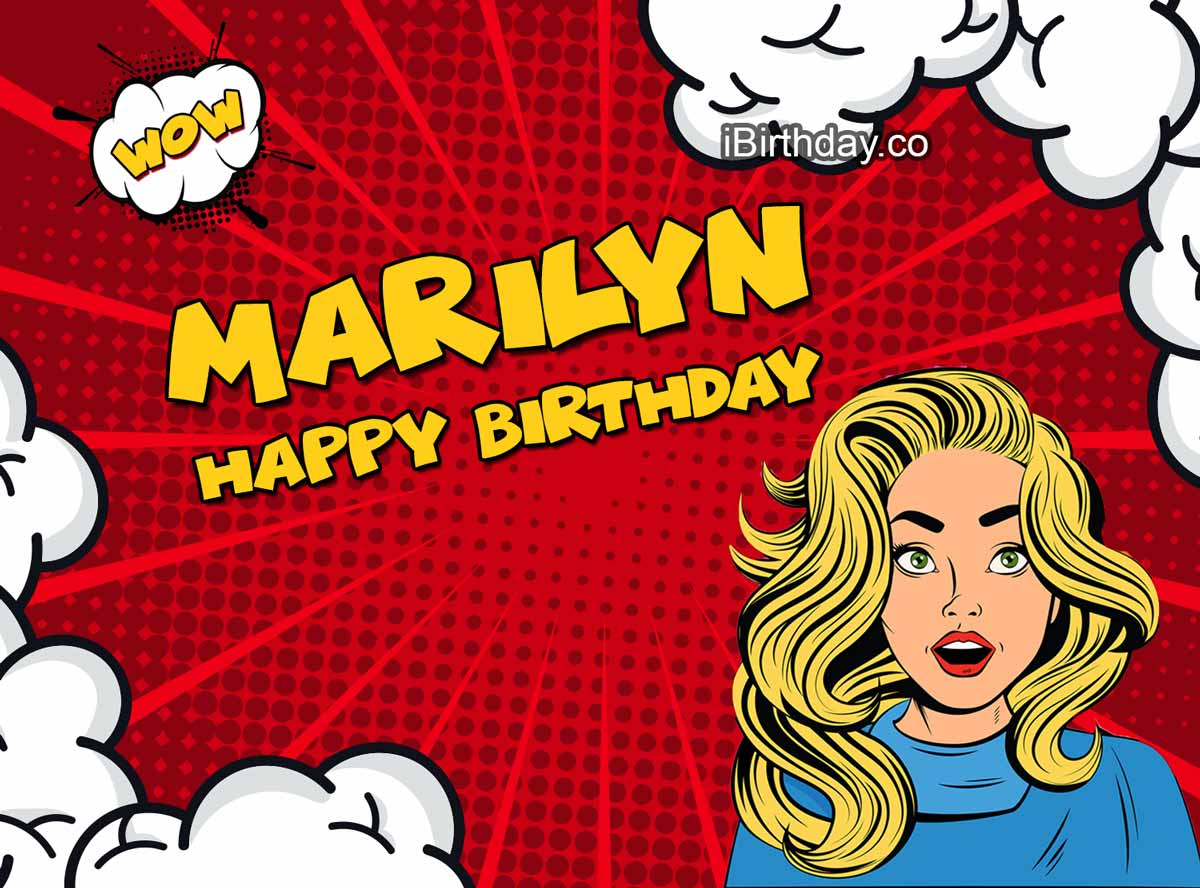Marilyn Comic Girl Happy Birthday