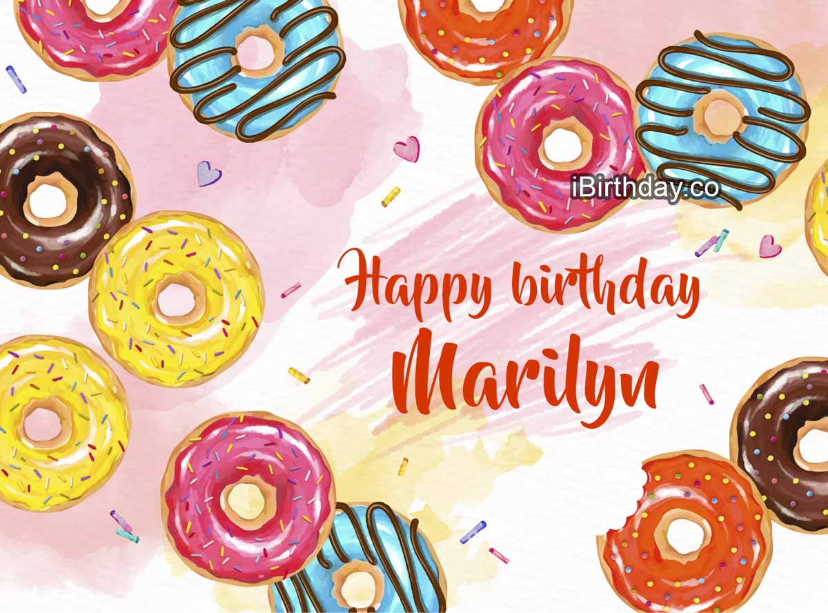Marilyn Donuts Birthday Wish