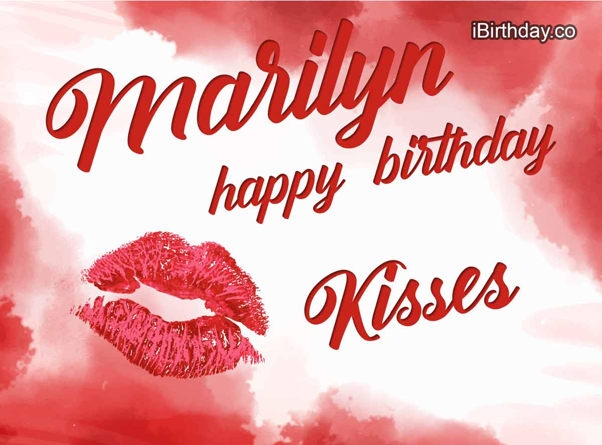 Marilyn Kisses Happy Birthday